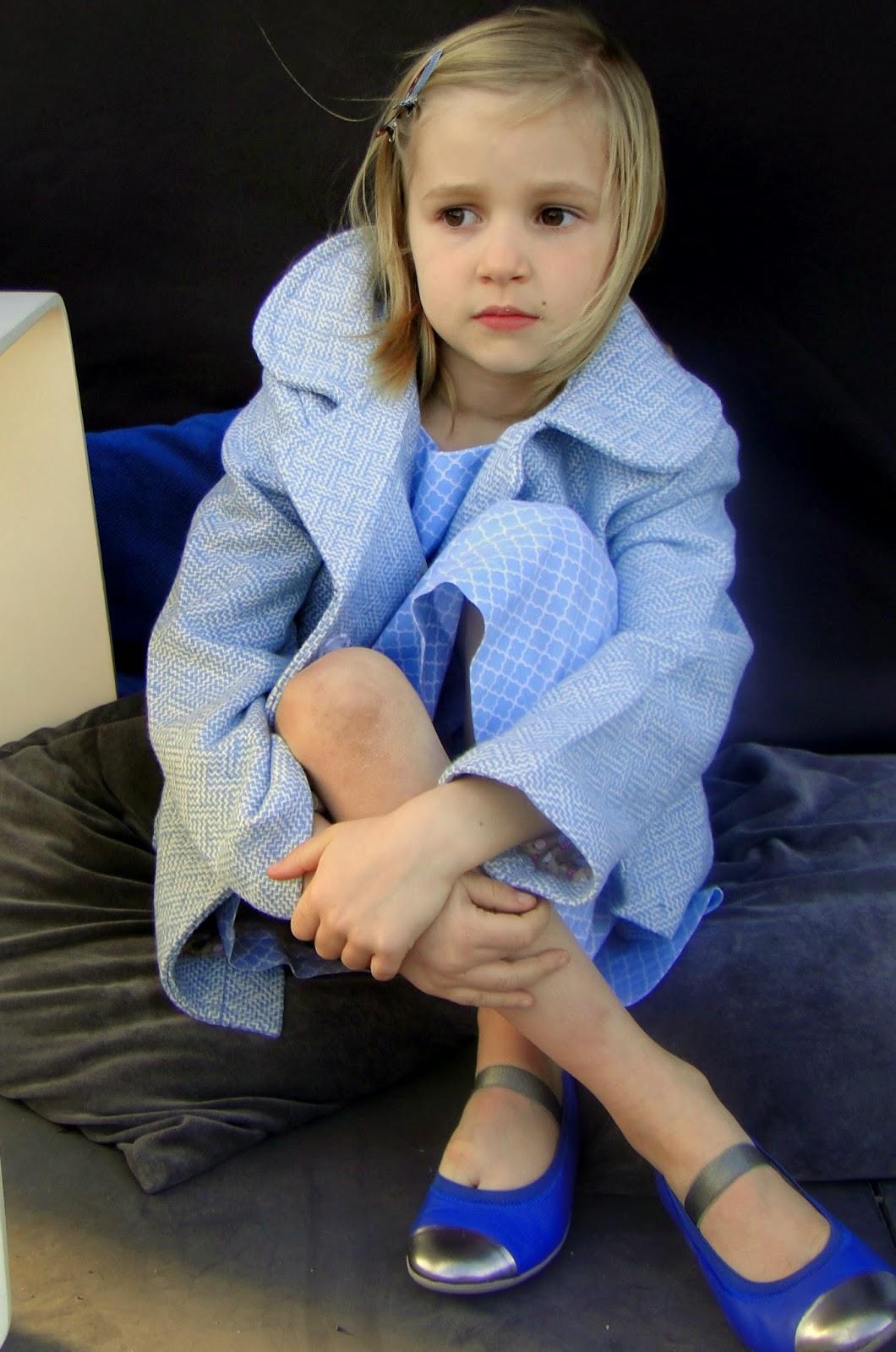 zelfgemaakte kinderkleding, retro