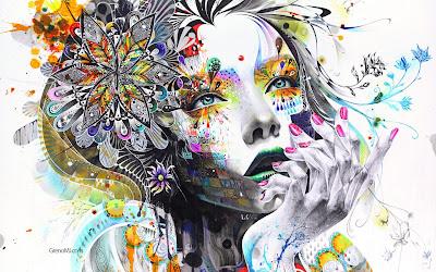 HD Creative Design Wallpaper - Flowers Girls