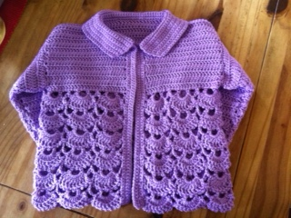 girl's crochet cardigan
