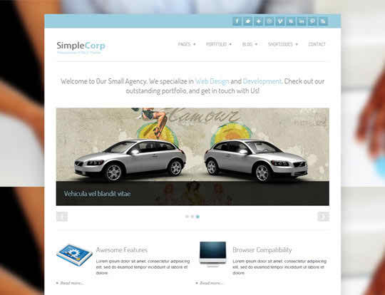 Simple Corp - free business WordPress theme