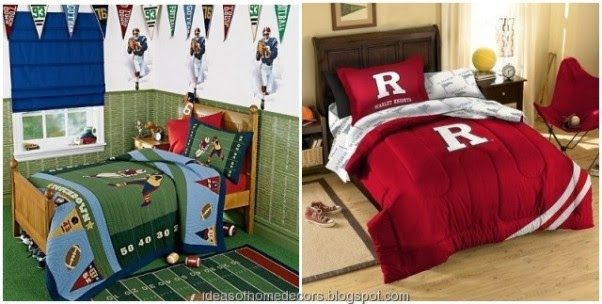 Boys Football Bedroom Themed Decoration Ideas - Boys football bedroom ideas