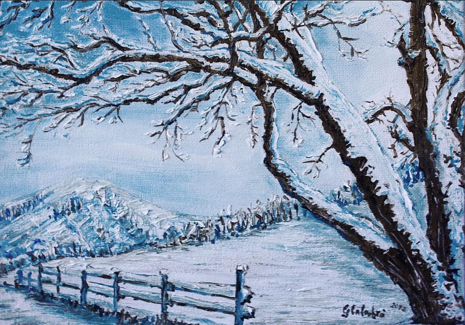 Photo collection dipinti di paesaggi invernali for Disegni paesaggio invernale
