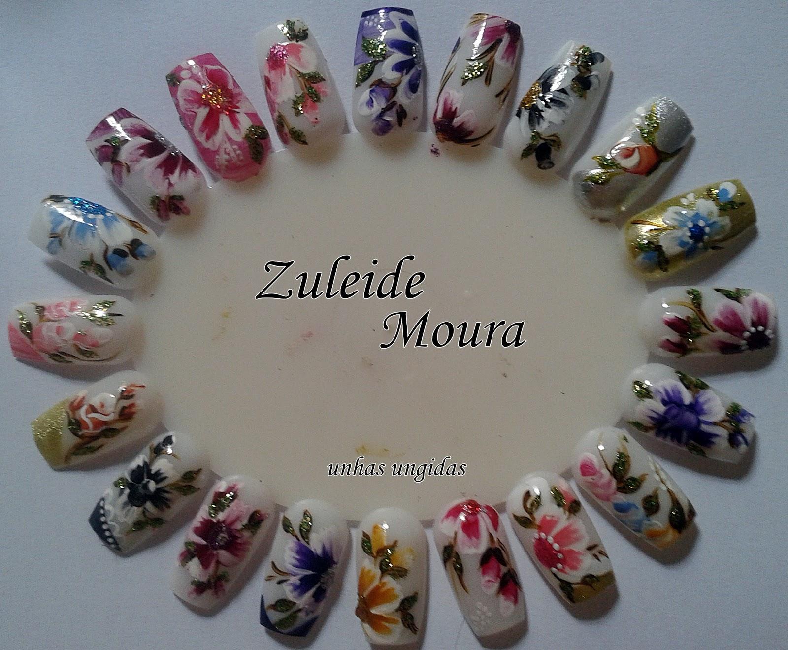 Fotos de unhas decoradas: com flores e borboletas