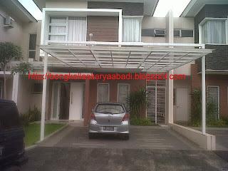 canopy minimalis proyek grand wisata
