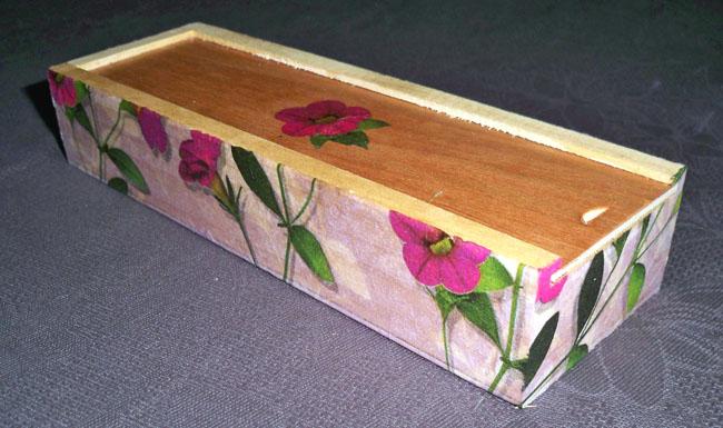 Ana lanas caja decoupage - Decorar cajas de madera con servilletas ...