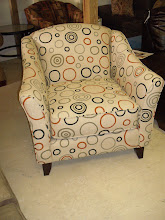 Cute Circle Print Chair