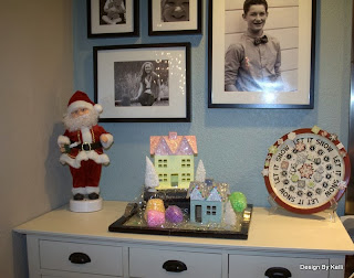 Christmas vignette, Vintage village, display
