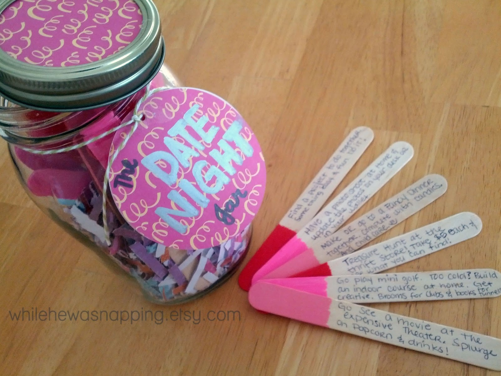 Southern In Law: Valentines DIY Gifts: Date Night Jar