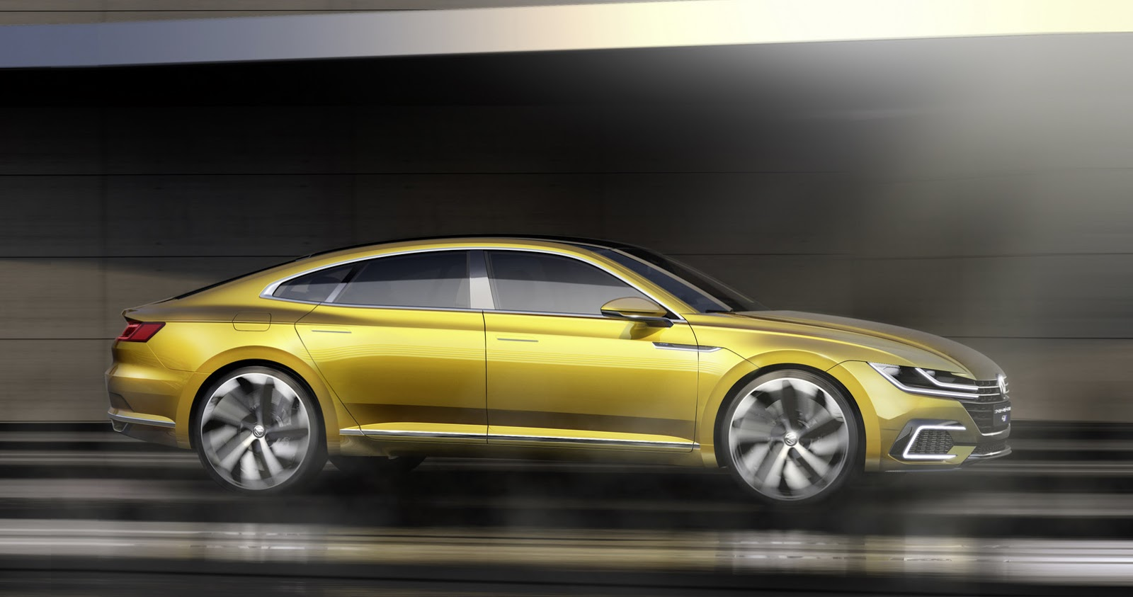 new vw sport coupe concept gte slots between passat and. Black Bedroom Furniture Sets. Home Design Ideas