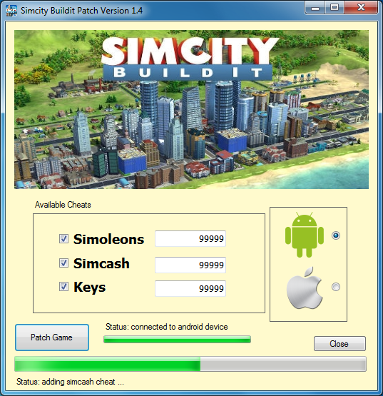 sims buildit cheats android