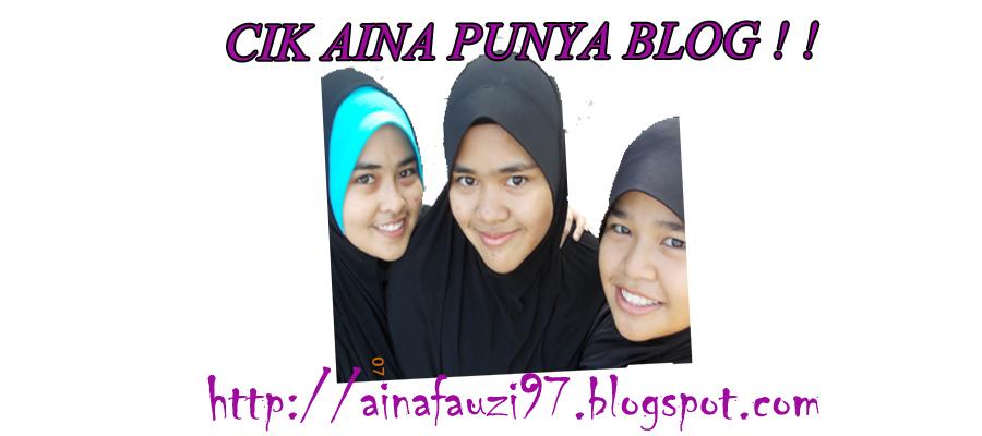 Cik Aina Punye Blog ! !