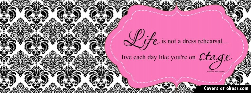 Facebook Cover Quotes About Life Pink Quotes About Life Facebook