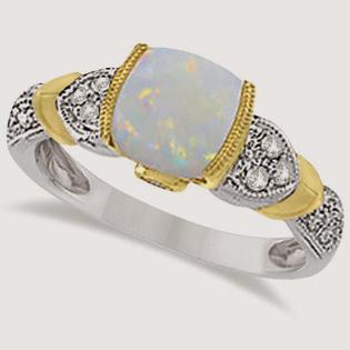 opal, opal ring, ladies ring
