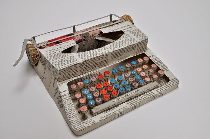 14-Typewriter-Jennifer-Collier-Stitched-Paper-Sculptures-www-designstack-co
