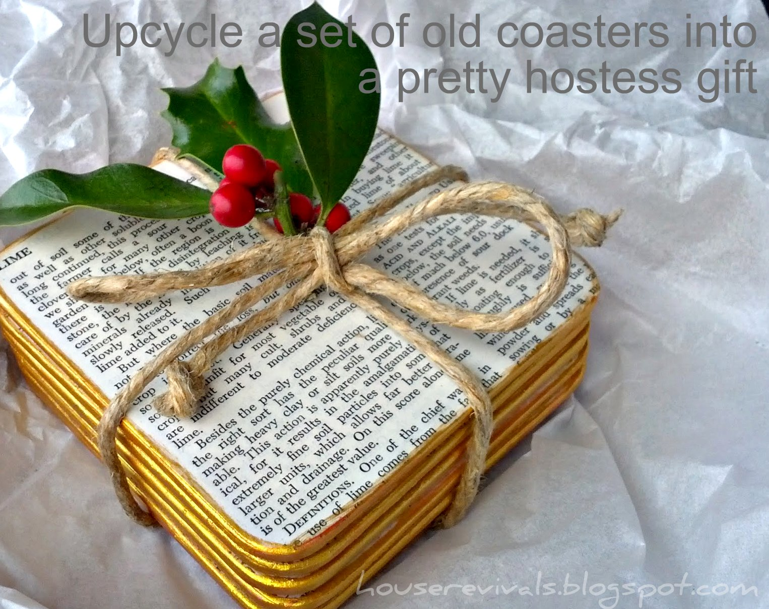 House Revivals: Make a Pretty Hostess Gift from Upcycled Coasters