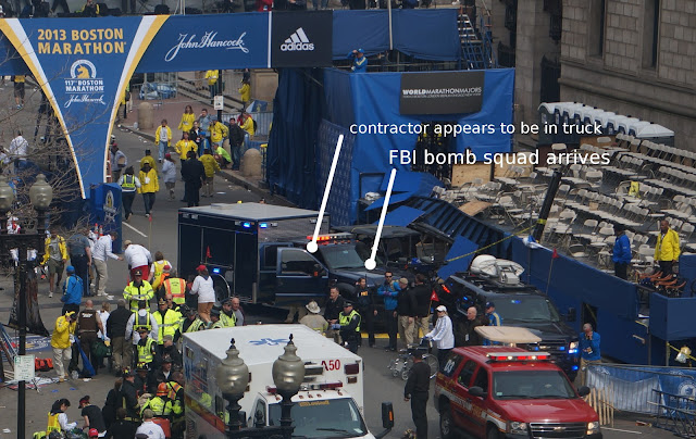 """Contractors"" at Boston Marathon Stood Near Bomb, Left Before Detonation FBI Arrives"