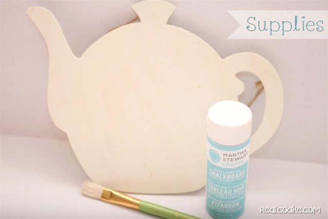Chalkboard paint ideas ~ Make a cute tea time chalkboard paint tea pot from realcoake.com