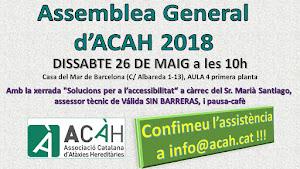 Assemblea General d'ACAH 2018