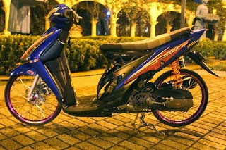 Modifikasi Motor Suzuki Spin 125 CC
