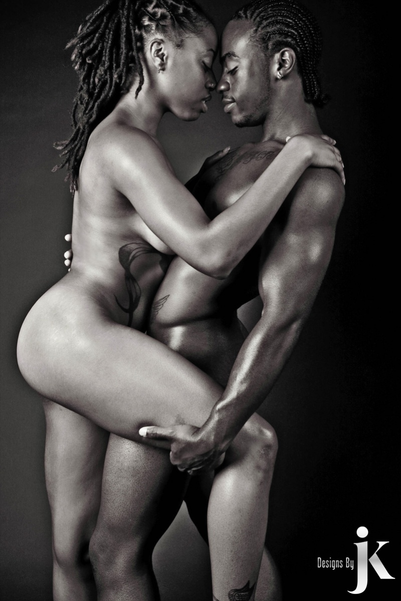 Sexy black naked couple