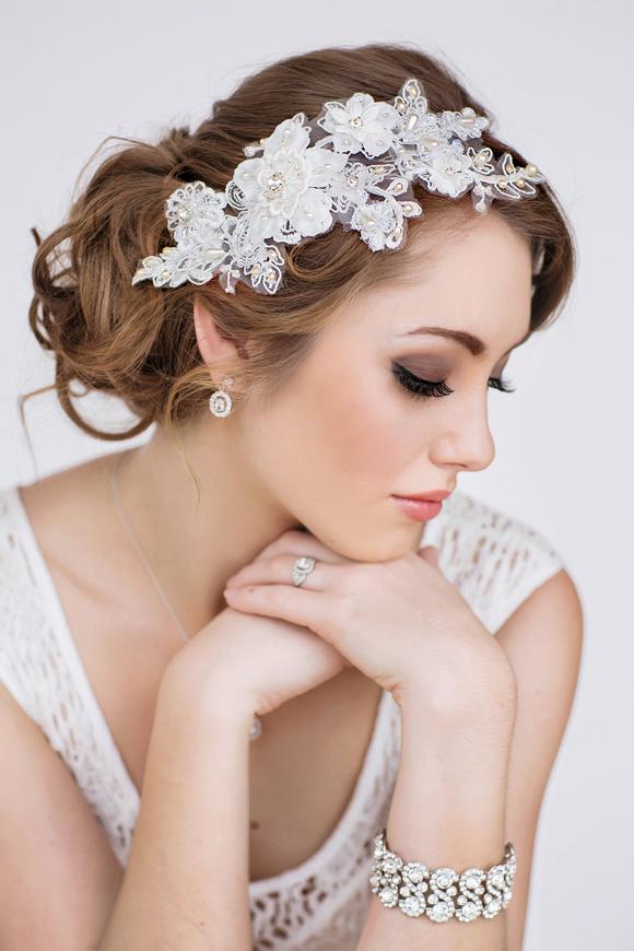 Paige Bridal Headpiece - www.perlejewellerymakeup.com.au