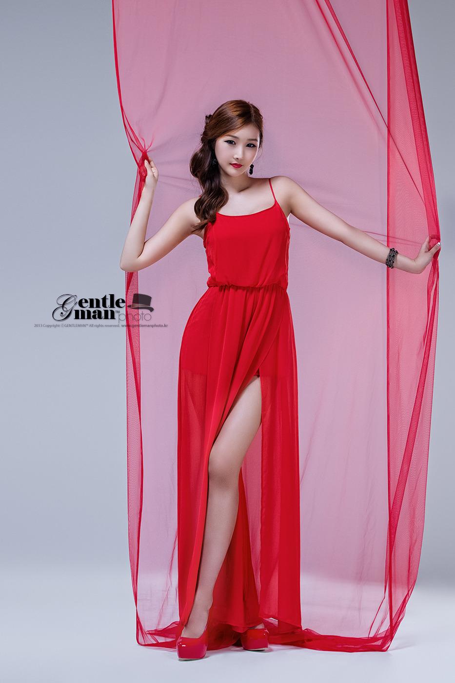 Han Song Yee - Hot Red ~ Cute Girl - Asian Girl - Korean
