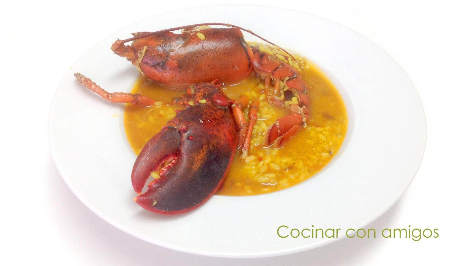Arroz caldoso con bogavante cocinar con amigos for Cocinar con 5 ingredientes