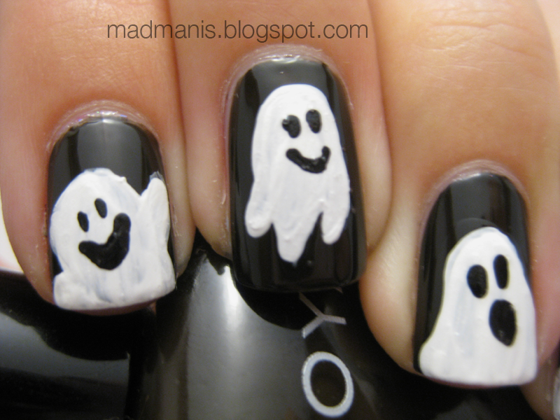 18 Halloween Ghost Nail Art Designs, Ideas, Trends & Stickers 2014 ...