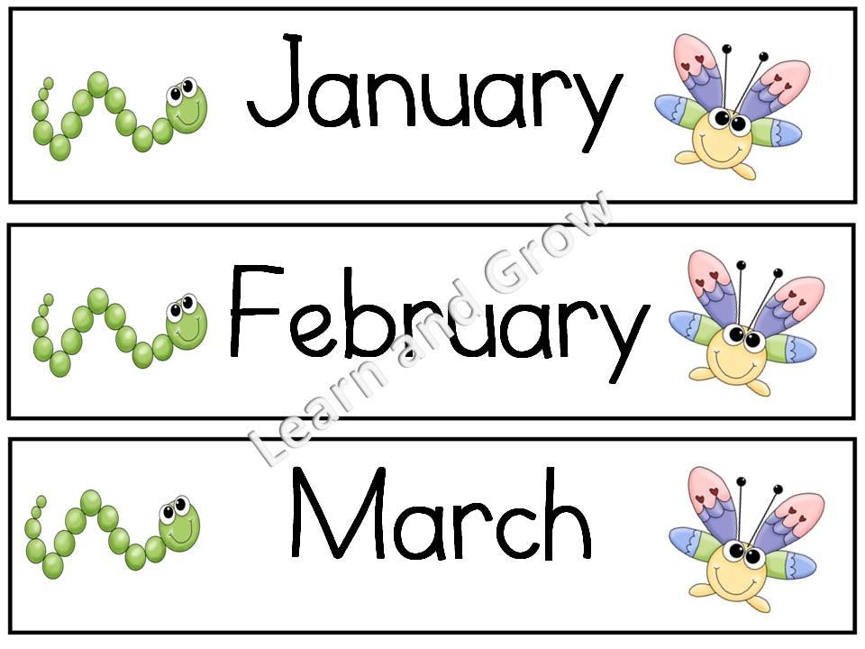 Printable Calendar Headers Months Of The Year Calendar Printables Q Es El Coyote