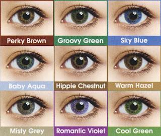 Diversas lentes coloridas em várias cores