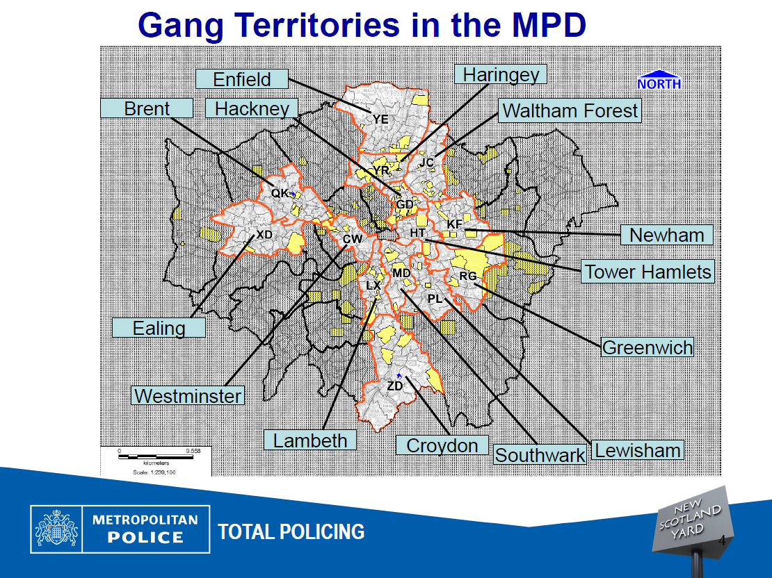 Compton Gang Map Used in Which to Map Gangs