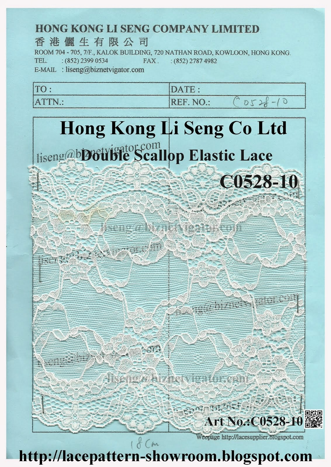 Double Scallop Elastic Lace Manufacturer - Hong Kong Li Seng Co Ltd