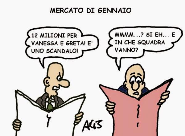 Vanessa, greta, calciomercato, satira, vignetta