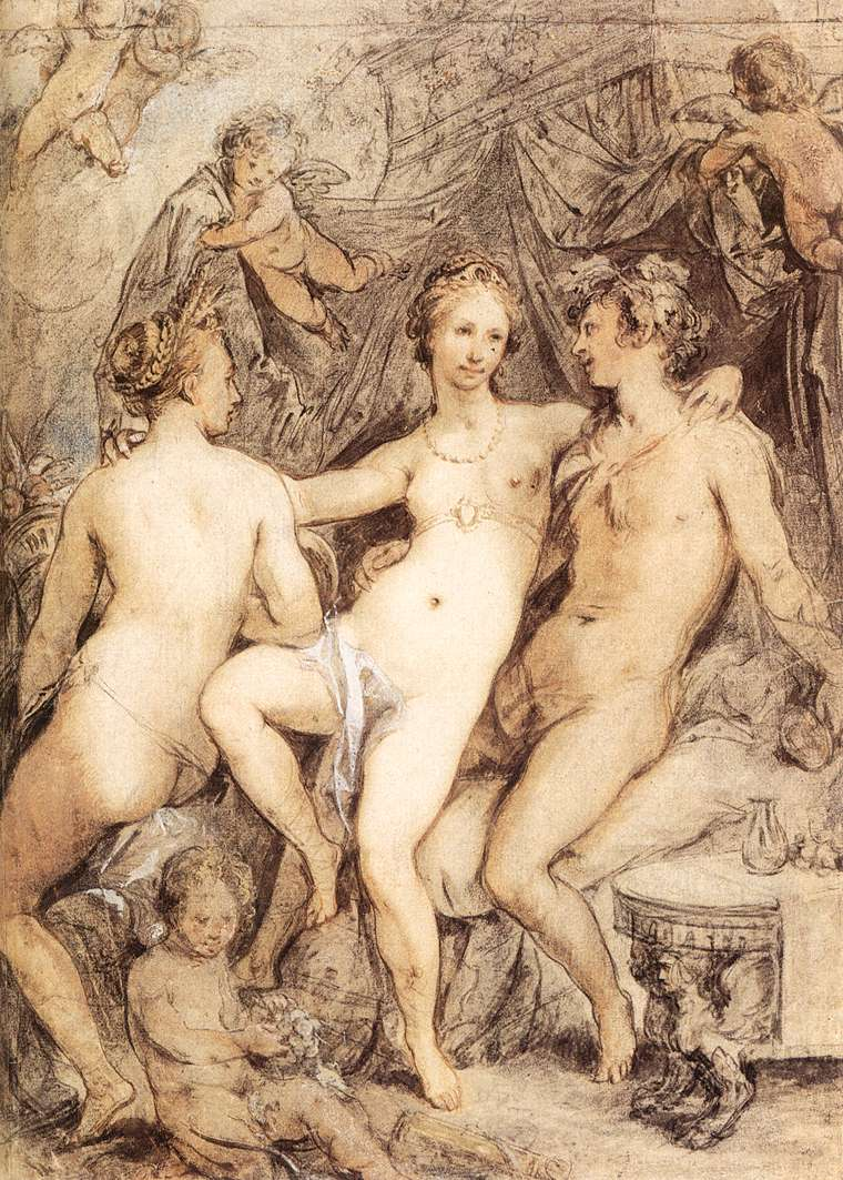Картина С Обнаженной И Тремя Мужчинами Название