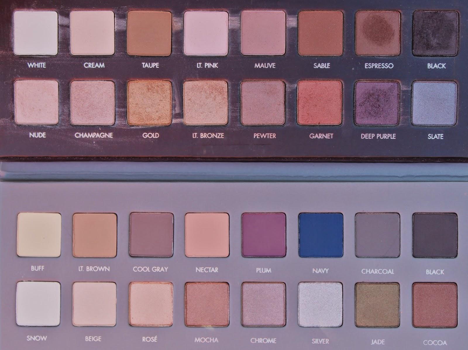 Lorac Pro Palette comparison