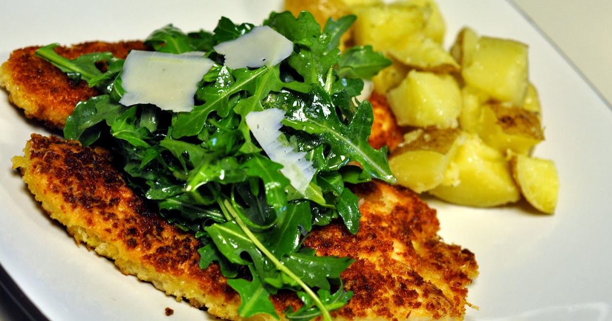 ... As You Go: Panko-Crusted Turkey Cutlets with Arugula and Parmesan