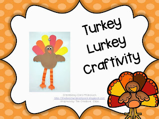 http://www.teacherspayteachers.com/Product/Turkey-Lurkey-Craftivity-981025