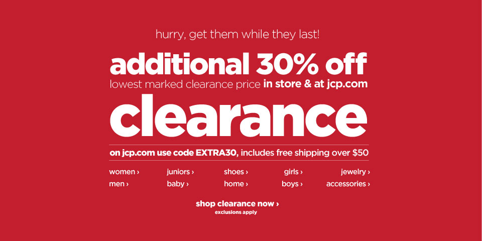 My sonsmom huge jcpenney sale save extra on