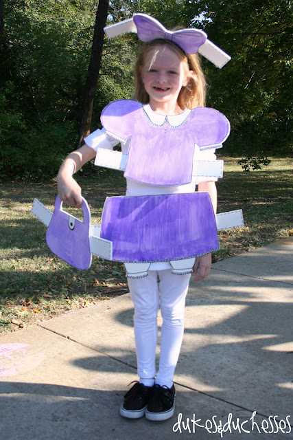 paper doll costume inspired by FamilyFun magazine