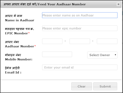 link your aadhaar card and voter id form