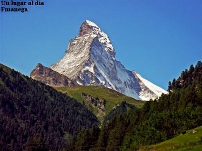 Monte Cervino en los Alpes suizos