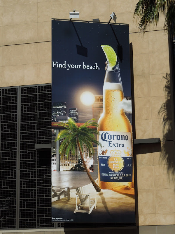 Corona Find your beach city billboard