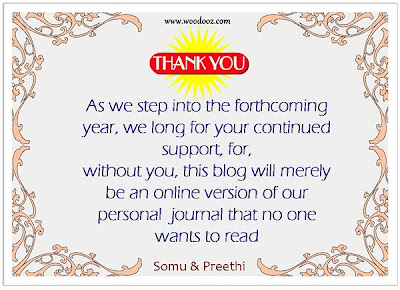 Thank you note from Preethi and Somu