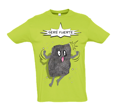 """Camiseta manga corta para hombre """"Como una roca"""" color verde"""