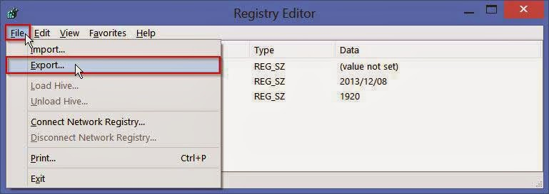 Back-up-windows-registry