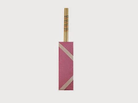 Hướng dẫn cách gấp túi giấy bọc đũa đơn giản - Xếp hình Origami với Video clip