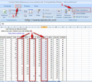 Langkah-langkah Validasi Data Excel