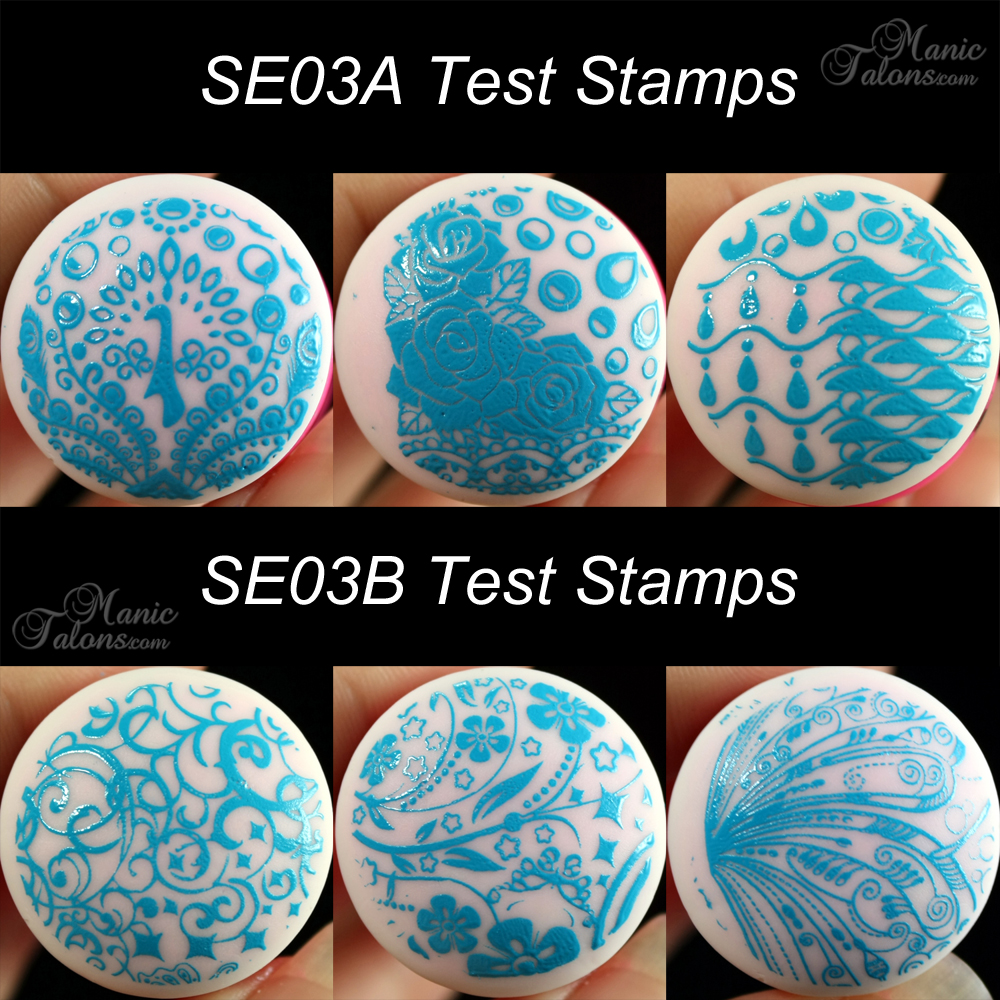 Pueen SE03 A and B Test Stamps