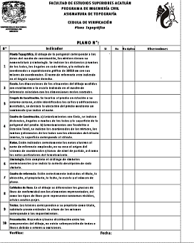CEDULA DE VERIFICACIÓN DE PLANOS
