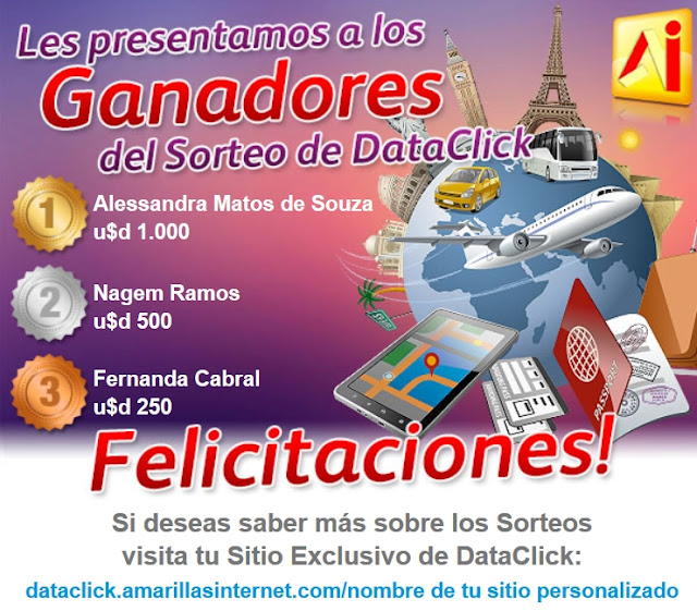 Sorteo dataclick Amarillas Internet Cordoba Argentina